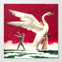 A clockwork swan Canvas Print