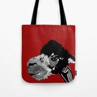 alpaca Tote Bags featuring Alpaca by caseysplace