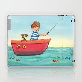 Happy Fishing Day Laptop & iPad Skin