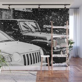 Father and Son cars urban monochrome photo Wall Mural