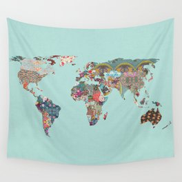 Louis Armstrong Told Us So (teal) Wall Tapestry