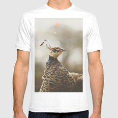 Little Miss Peahen White MEDIUM Mens Fitted Tee