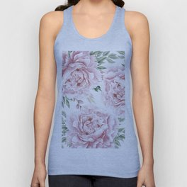 Beautiful Pink Roses Garden Unisex Tank Top
