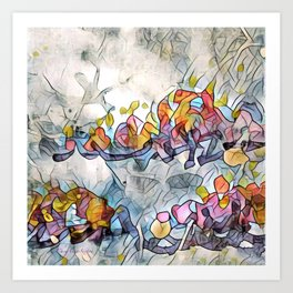 Splashes Of Stained Glass by CheyAnne Sexton Art Print