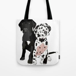 Great Dane Puppy Dogs: Olive & Oden Tote Bag