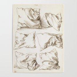 Six Studies of Pillows by Albrecht Durer, 1493 Poster