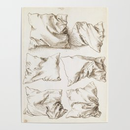 Six Studies of Pillows by Albrecht Durer, 1493 Poster