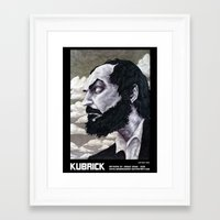 kubrick Framed Art Prints featuring Kubrick by madbaumer37