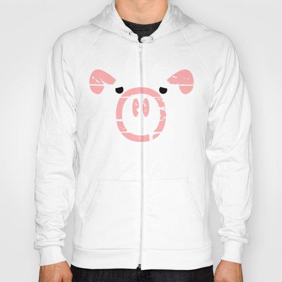 Cute Pink Pig face Hoody