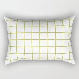 Grid Pattern Chartreuse Rectangular Pillow
