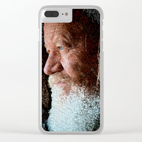 Old man blue eyes Clear iPhone Case