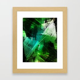 Jungle - Geometric Abstract Art Framed Art Print