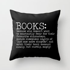 The Harsh Reality... (inverted) Throw Pillow