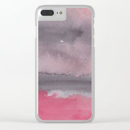 7 | 1903011 Watercolour Abstract Painting | Muted Colours Clear iPhone Case