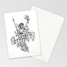 Warrior woman Stationery Cards