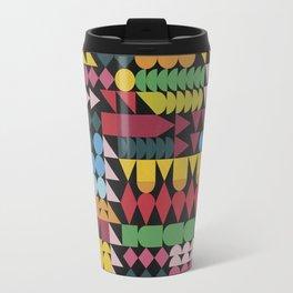 Colorful Geometric Abstraction Travel Mug
