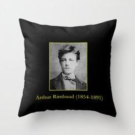 Etienne Carjat - Portrait of Rimbaud Throw Pillow