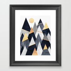 Fancy Mountains Framed Art Print