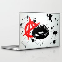 sons of anarchy Laptop & iPad Skins featuring Anarchy by Mike Lampkin
