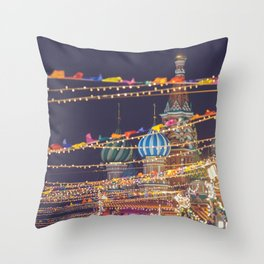 St Basil Cathedral on Red Square in Christmas and New Year, Moscow, Russia Throw Pillow