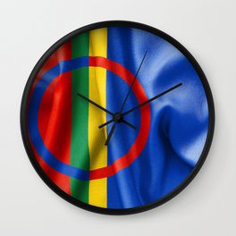 Sami Flag Wall Clock
