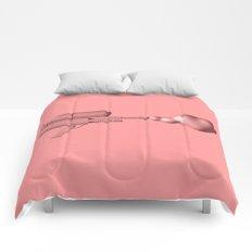 Bubble Gum Gun - Make Love Not War Comforters