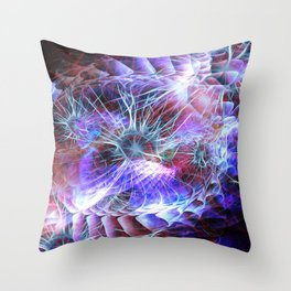 Spark of Creation Throw Pillow