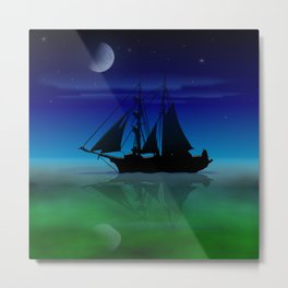 Sailing On A Sea of Green. Metal Print