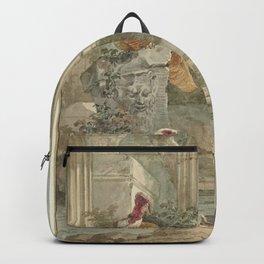 Aert Schouman - Turkey and Other Birds, Among Ruins (1760) Backpack
