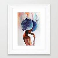 waterfall Framed Art Prints featuring Waterfall  by Sebastian Wandl