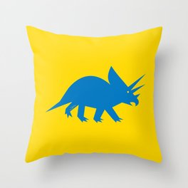 Simplesaurs: Ceratops Throw Pillow