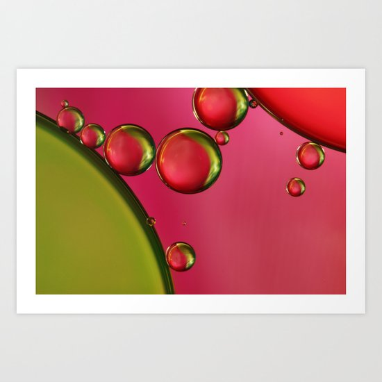 Lime Green & Strawberry Art Print