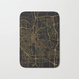 Ann Arbor map, Michigan Bath Mat