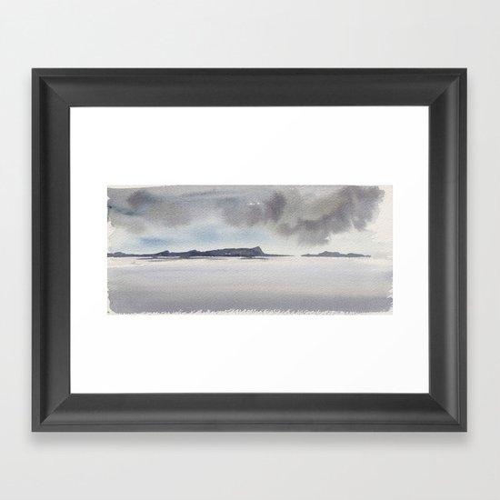 mare del nord Framed Art Print