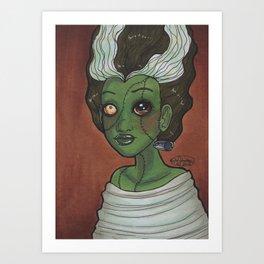 Frankengirl Art Print