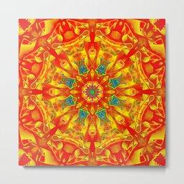 Hot And Bright Thoughts Mandala Metal Print