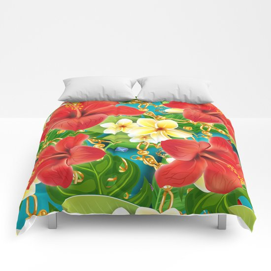 tropical color party  Comforters