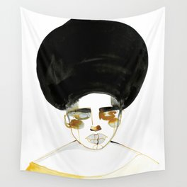 Serenity with Fluffy Afro Wall Tapestry