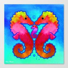 Seahorse Family Canvas Print
