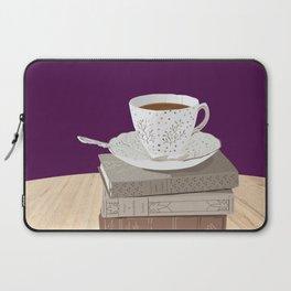 Teacup, Jane Austen, & Charlotte Brontë Books Laptop Sleeve