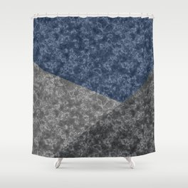 Blue gray abstract pattern marble . Shower Curtain