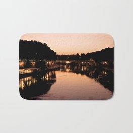 Tiber river at sunset Bath Mat
