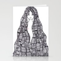 maori Stationery Cards featuring The Maori girl by Elise Lesueur