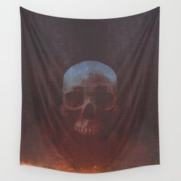 Protosequence Crimson Wall Tapestry