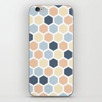 honeycomb iPhone & iPod Skins featuring Honeycomb by 603 Creative Studio
