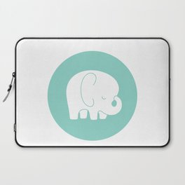 Mod Baby Elephant Teal Laptop Sleeve