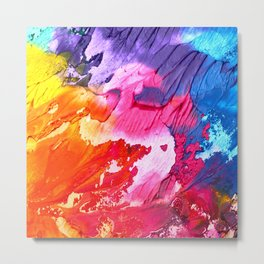 BRIGHT ABSTRACT PAINTING Metal Print