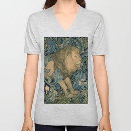 "William Morris ""Forest - Lion"" Unisex V-Neck"