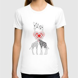 loving giraffes T-shirt