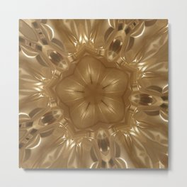 Elegant Gold Brown Shimmering Star Metal Print